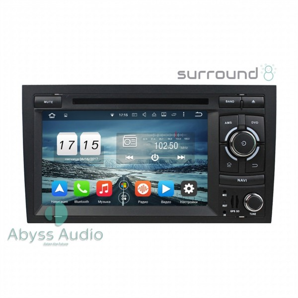 Штатная магнитола Abyss Audio для Audi A4 2002-2008