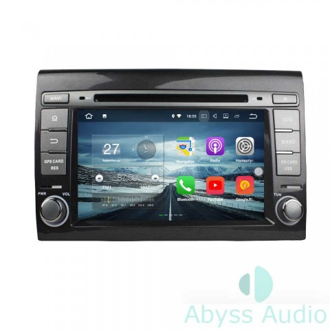 Штатна магнитола для Fiat Bravo2007-2012 от Abyss Audio: Q10E-BRV07 на Android 10 Q