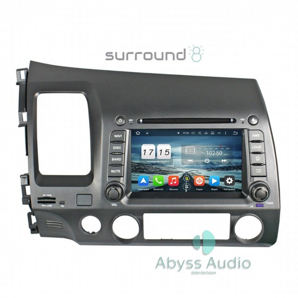Штатная магнитола Abyss Audio для Honda Civic 2006-2011
