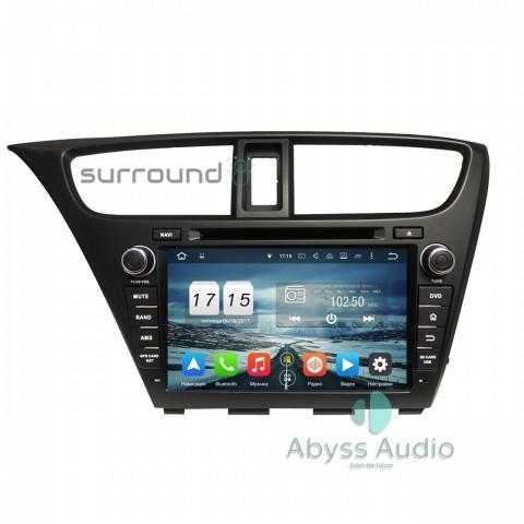 Штатная магнитола для Honda Civic 2014Hatchback от Abyss Audio P9E-CIV14H на Android 9 Pie