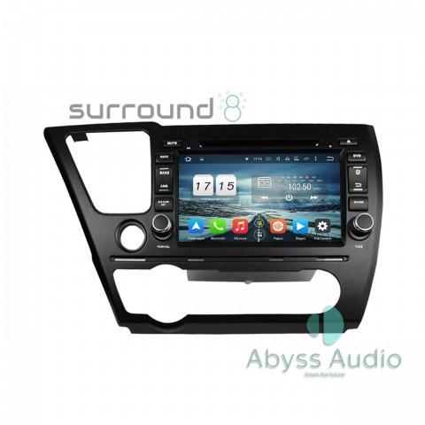 Штатная магнитола для Honda Civic 2014Sedan от Abyss Audio P9E-CIV14S на Android 9 Pie