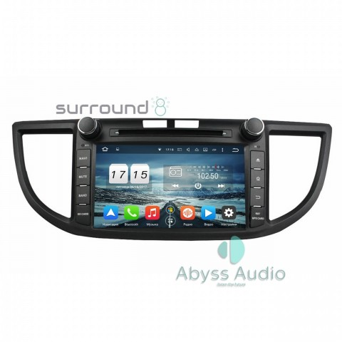 Штатная магнитола для Honda CR-V 2012 от Abyss Audio P9E-CRV12-8 на Android 9 Pie