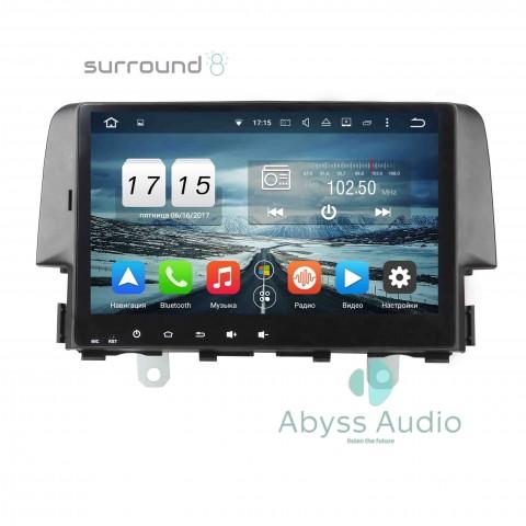 Штатная магнитола для Honda Civic 2016 от Abyss Audio P9D-CIV16 на Android 9 Pie