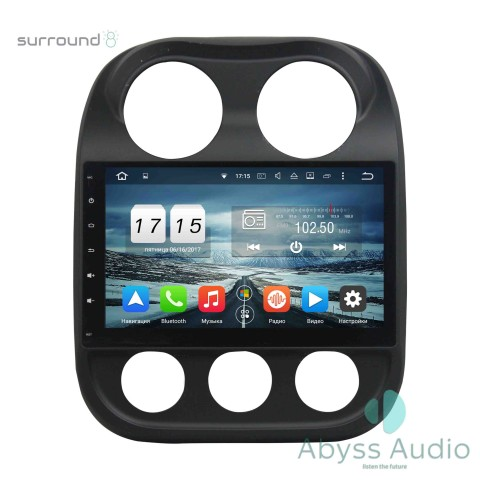 Штатная магнитола для Jeep Compass от Abyss Audio P9D-JEEPU на Android 9 Pie