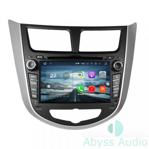 Штатная магнитола для Hyundai Accent 2011-2012 от Abyss Audio P9E-ACC11 на Android 9 Pie