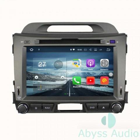 Штатная магнитола для KIA Sportage 2010-2012 от Abyss Audio P9E-SPO10 на Android 9 Pie