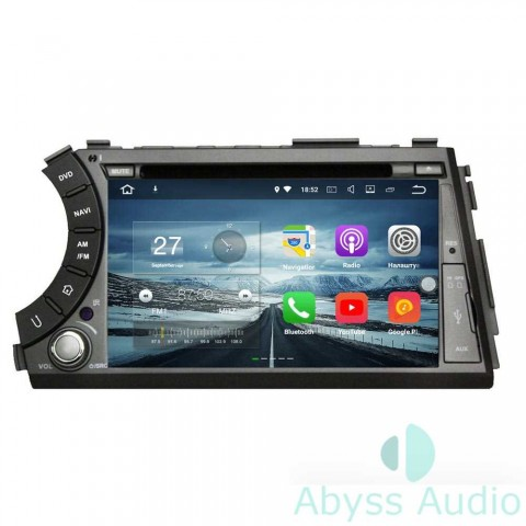 Штатная магнитола для Ssang Yong Actyon sports 2005-2013 от Abyss Audio P9E-ACTI05 на Android 9 Pie