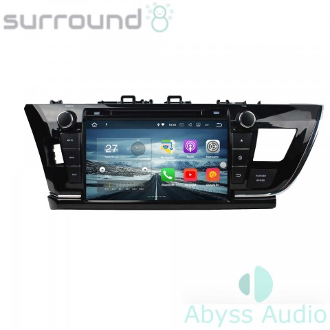 Штатная магнитола для Toyota Corolla 2014 от Abyss Audio P9E-COR14 на Android 9 Pie