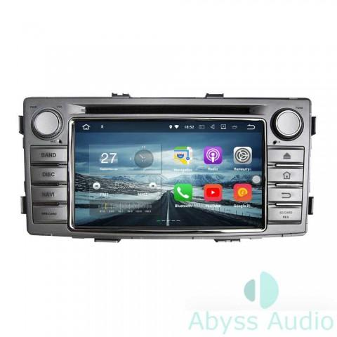 Штатная магнитола для Toyota Hilux 2012 от Abyss Audio P9E-HILX12 на Android 9 Pie