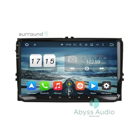 Штатна магнитола для Volkswagen VW universal от Abyss Audio: Q10D-VWUNI на Android 10 Q