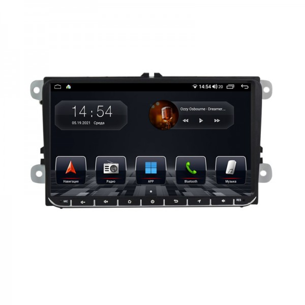 Штатная магнитола Abyss Audio QS-9101 для Volkswagen Passat, Golf, Jetta, Tiguan, Touran, Polo, Amarok, Caddy, T5, T6, Beatle, EOS