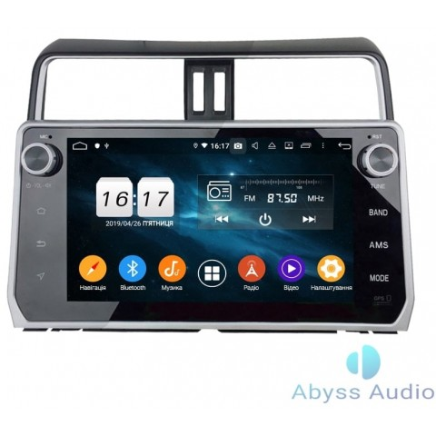 Штатная магнитола для Toyota Prado 2018 от Abyss Audio P9D-PRD18 на Android 9 Pie