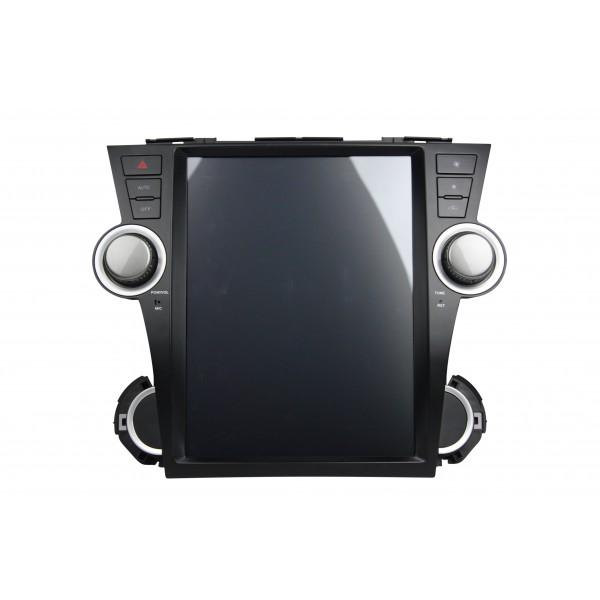 Штатная магнитола Abyss Audio для Toyota Highlander 2011-2014 Tesla Style