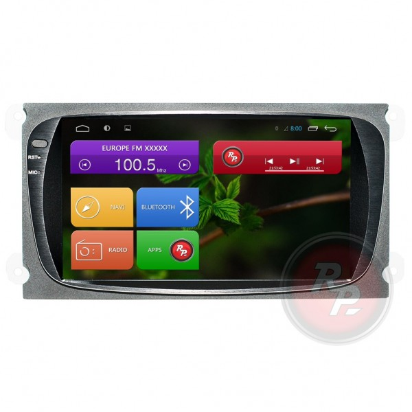 Штатная магнитола Red Power для Ford Mondeo Black / Grey RP21003B / BG S210 Android 4,4