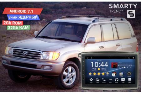 Установка магнитолы Smarty Trend для Toyota Land Cruiser 100