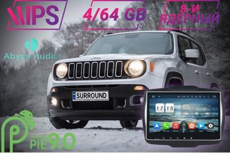 Установка штатной магнитолы на Jeep Renegade: Abyss Audio на Android 9