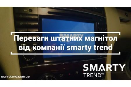 Установка магнитолы Smarty Trend для Mercedes C-Class (W203)