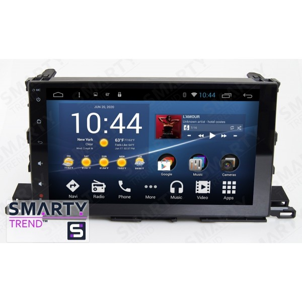 Штатная магнитола Smarty Trend для Toyota Highlander 2014-2016 - Android 7.1