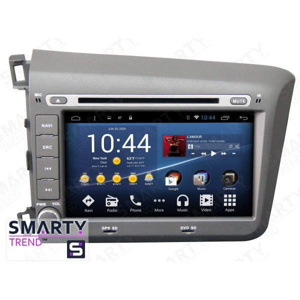Штатная магнитола Smarty Trend для Honda CIVIC 4D 2012-2014 - Android 8.1 (9.0)