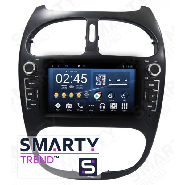Штатная магнитола Smarty Trend для Peugeot 206 - Android 8.1 (9.0)