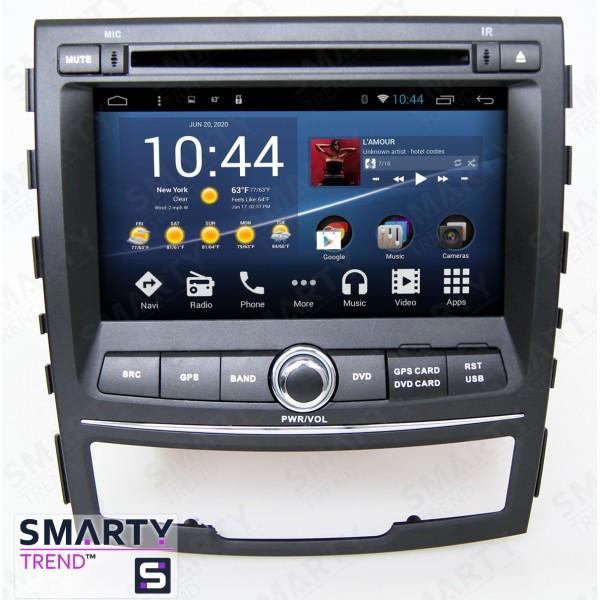 Штатная магнитола Smarty Trend для Ssang Yong Korando 2010-2013 - Android 8.1 (9.0)