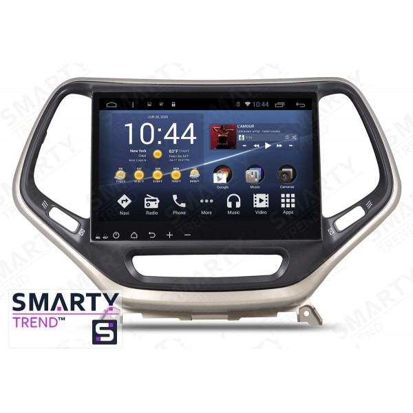 Штатная магнитола Smarty Trend для Jeep Cherokee - Android 8.1 (9.0)