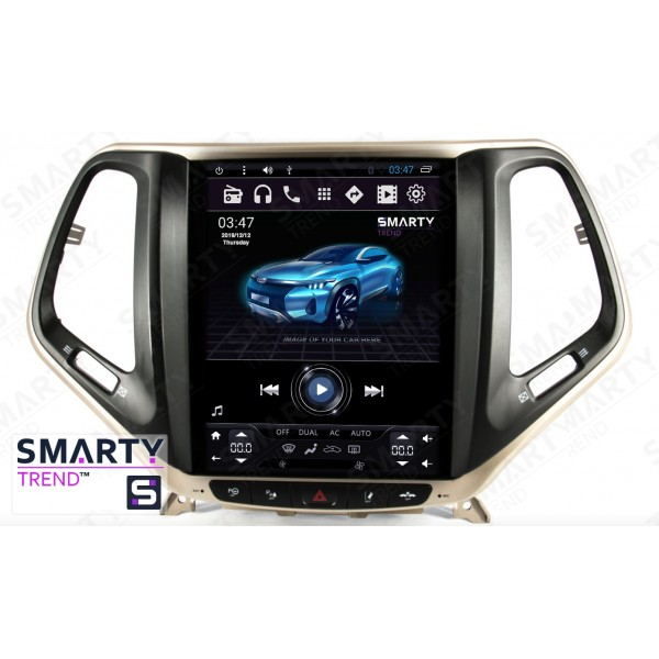 Штатная магнитола Smarty Trend для Jeep Cherokee (Tesla Style) - Android 6.0