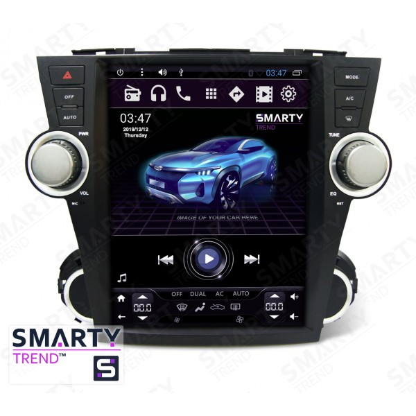 Штатная магнитола Smarty Trend для Toyota Highlander 2007-2014 (Tesla Style) - Android 6.0