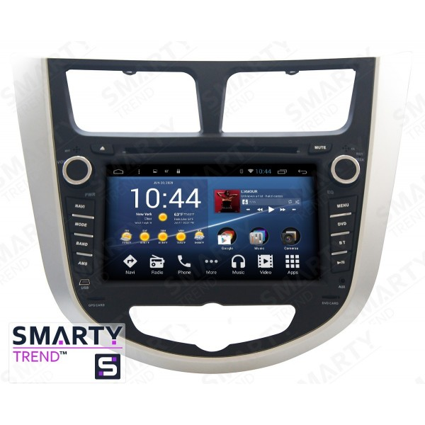 Штатная магнитола Smarty Trend для Hyundai Accent / Solaris / Verna - Android 8.1 (9.0)