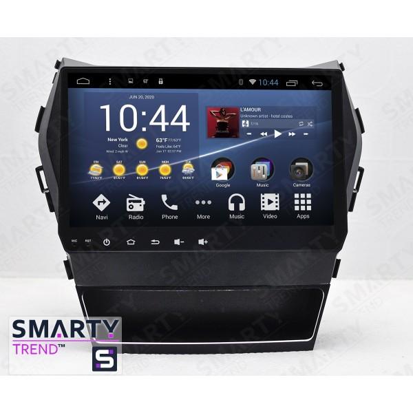 Штатная магнитола Smarty Trend для Hyundai Santa Fe IX45 2012-2016 - Android 8.1 (9.0) (максимальная комплектация)