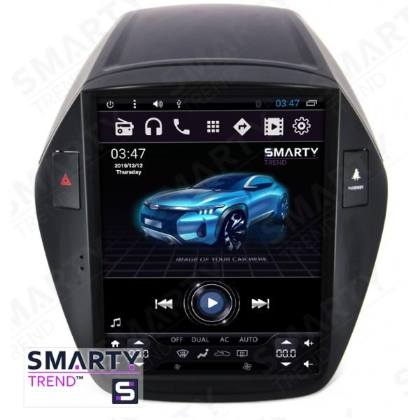 Штатная магнитола Smarty Trend для Hyundai ix35 (Tesla Style) - Android 6.0