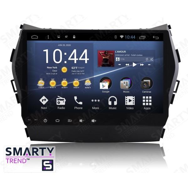 Штатная магнитола Smarty Trend для Hyundai Santa Fe IX45 2012-2016 - Android 7.1