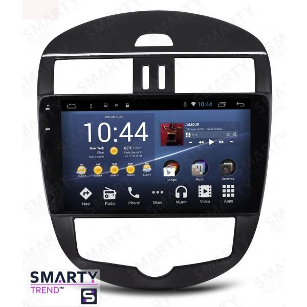 Штатная магнитола Smarty Trend для Nissan Tiida 2014-2016 - Android 7.1