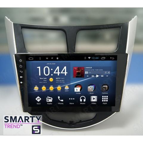 Штатная магнитола Smarty Trend ST3P2-516PK1885 для Hyundai Accent | Solaris | Verna на Android 7.1.2 (Nougat)