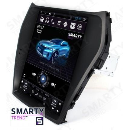 Штатная магнитола Smarty Trend для Hyundai Santa Fe IX45 2012-2016 (Tesla Style) - Android 6.0