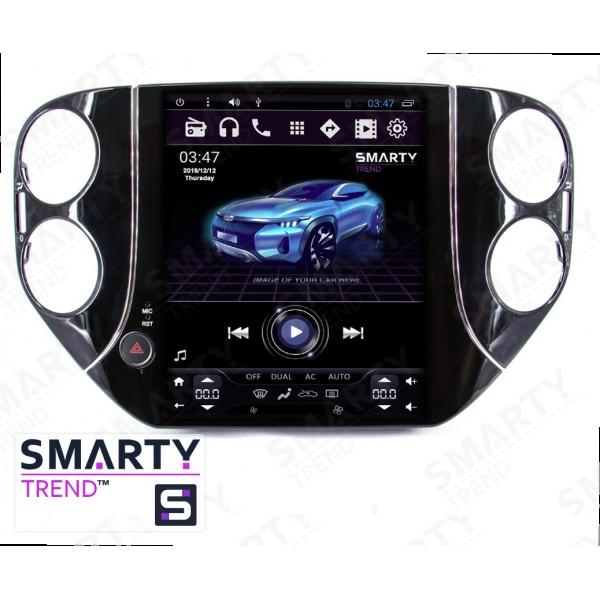 Штатная магнитола Smarty Trend для Volkswagen Tiguan (Tesla Style) - Android 6.0
