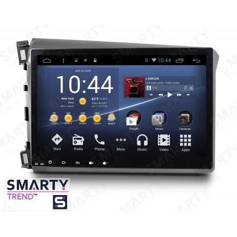 Штатная магнитола Smarty Trend ST3P2-516PK3705 для Honda CIVIC 4D 2012-2014 на Android 7.1.2 (Nougat)