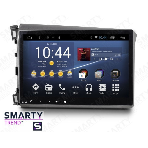 Штатная магнитола Smarty Trend для Honda CIVIC 4D 2012-2014 - Android 7.1