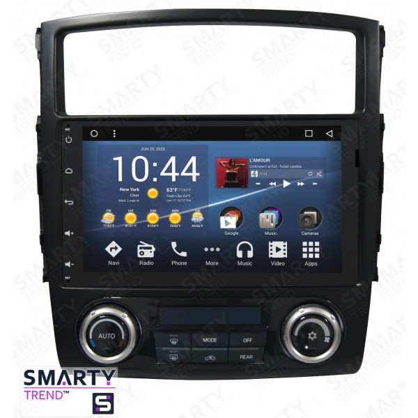 Штатная магнитола Smarty Trend для Mitsubishi Pajero - Android 8.1 (9.0)