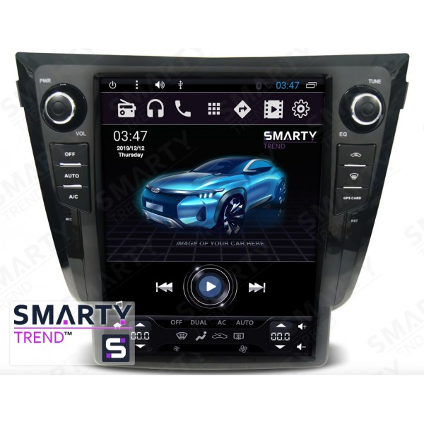 Штатная магнитола Smarty Trend для Nissan X-Trail 2014 (Automatic and Manual) (Tesla Style) - Android 6.0
