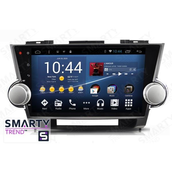 Штатная магнитола Smarty Trend для Toyota Highlander 2007-2014 - Android 8.1 (9.0)