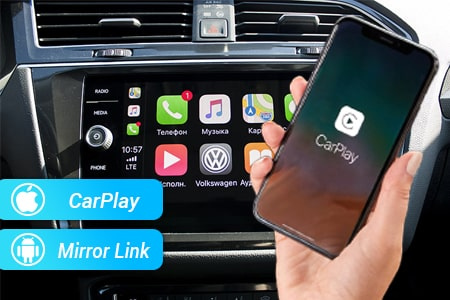 Встроенный Apple CarPlay в магнитоле Passat, Golf, Jetta, Tiguan, Touran, Polo, Amarok, Caddy, T5, T6