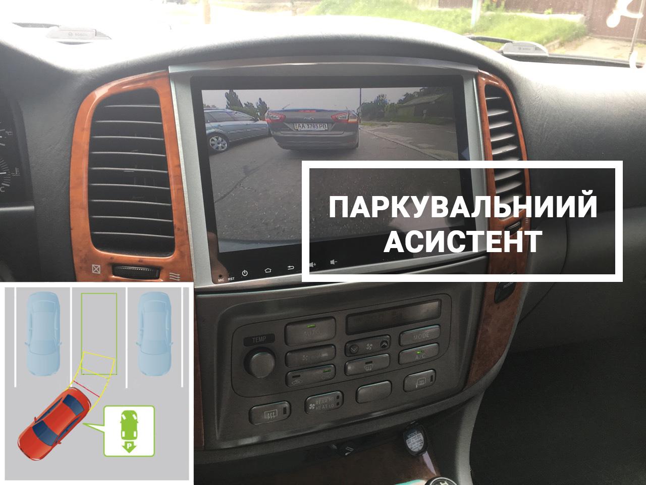Зручний асистент парковки з камерами переднього і задного виду