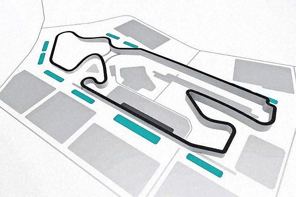 Схема гоночної трасси Ф1 у Львові