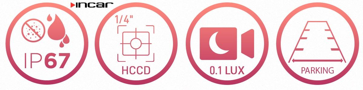 Штатная камера заднего вида Incar VDC-016 для Hyundai Elantra, Accent, Tucson, Sonata YF, KIA Sportage, Rio IV X-line в интернет-магазине Surround