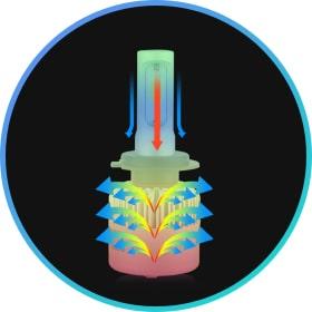Активная система охлаждения LED лампы